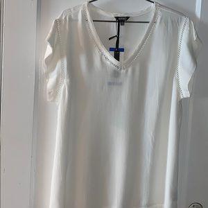 Buffalo, white lace blouse